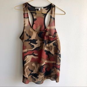 Collective concepts camouflage print racer tank